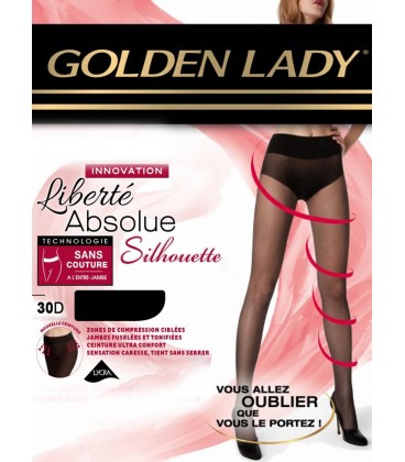 Collant Golden Lady  liberté absolue 30D