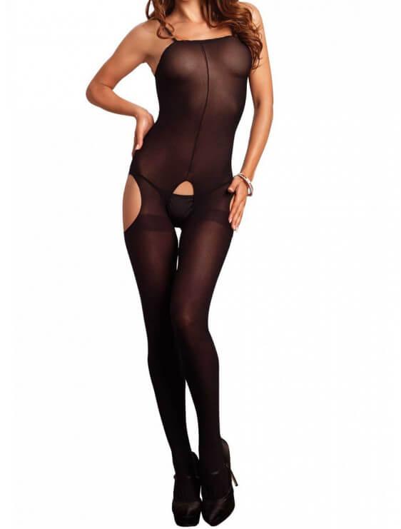 Body Collant opaque Leg Avenue noir face