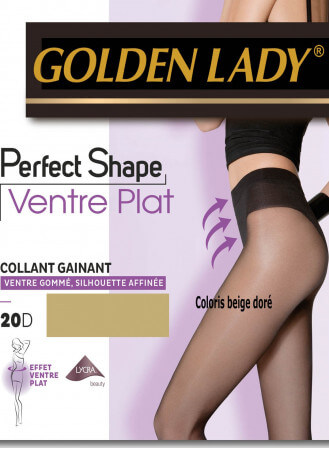 collant perfect shape golden lady ventre plat nude