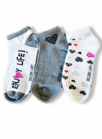 Lot de 3 Chaussettes Invisibles Golden Lady Coeur