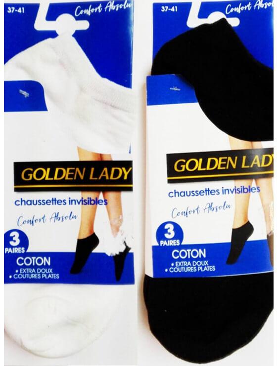 Lot de 3 Chaussettes Invisibles Golden Lady