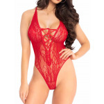 Body string Leg Avenue rouge face