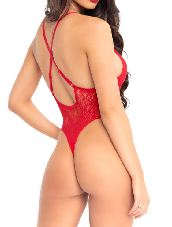 Body string Leg Avenue rouge dos