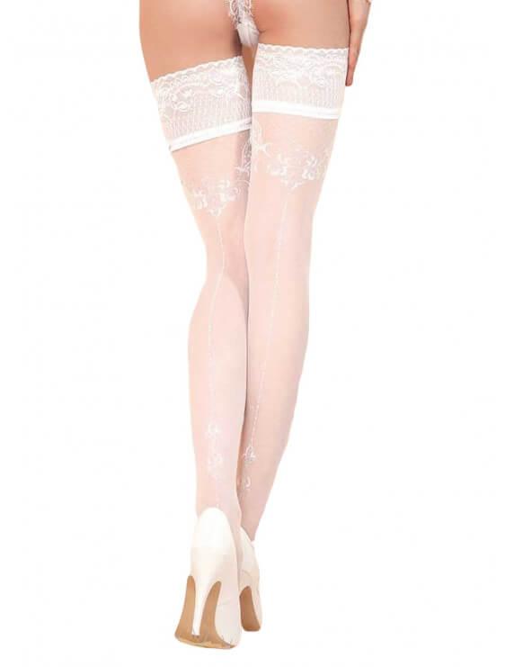 Bas Autofixants Ballerina Modele 433 blanc détail