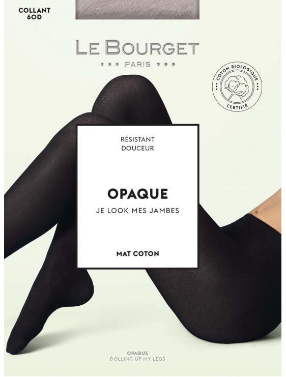 Collant écologique Le Bourget Opaque Bio 60 deniers noir