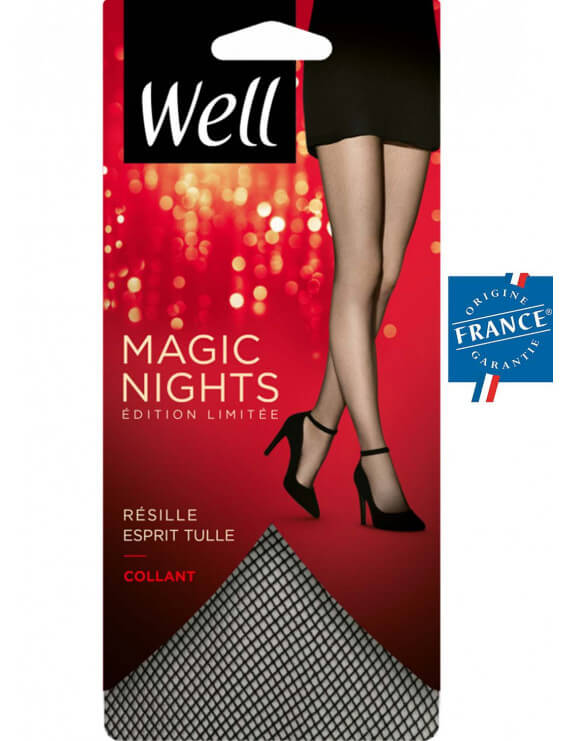 Collant Well resille tulle noir
