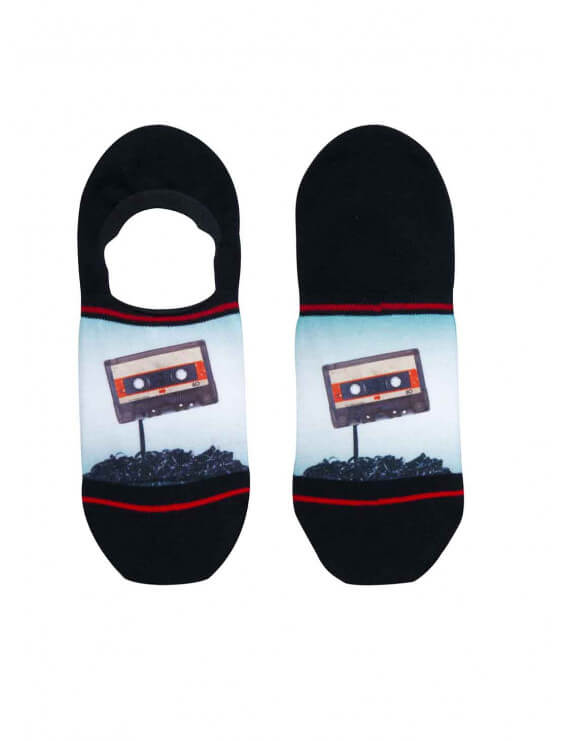 Socquette invisible Xpooos homme Cassette Tape