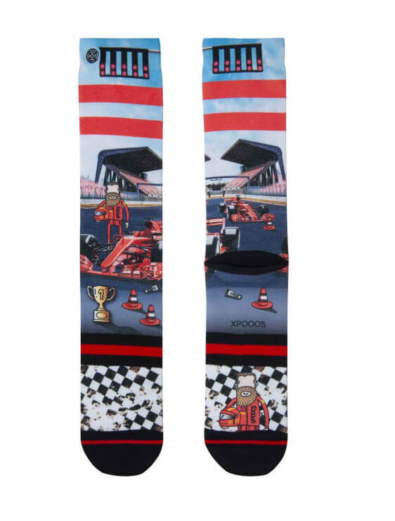 Chaussette Xpooos homme Luke Racing