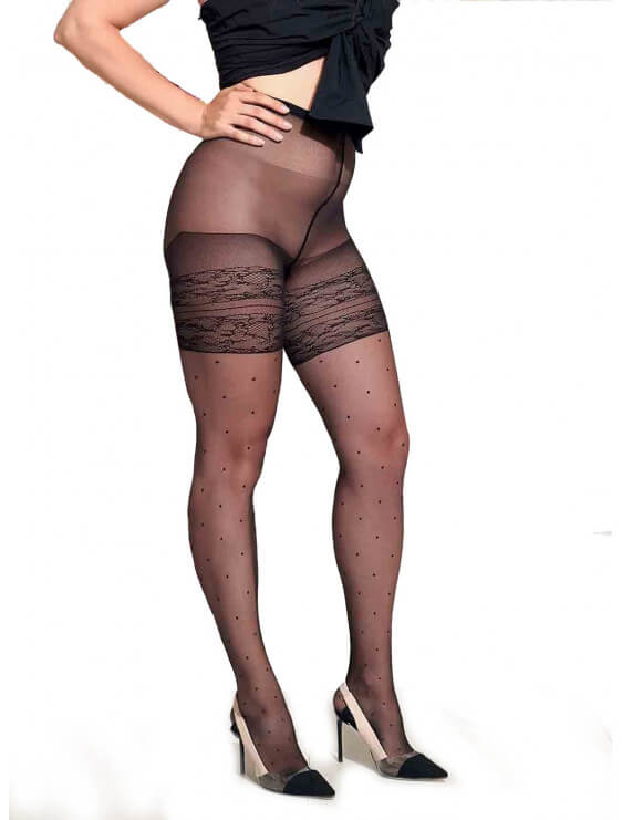 Collant trasparenze Grande taille Tamarindo noir