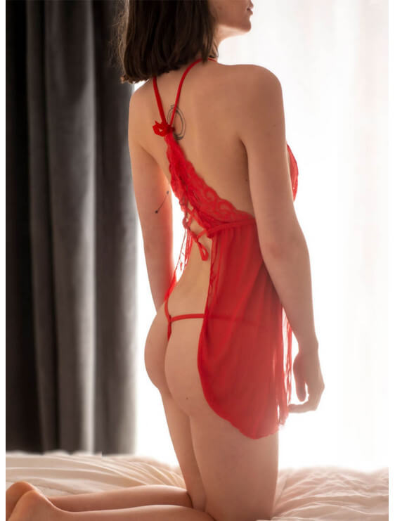 Nuisette bec collection lena rouge dos
