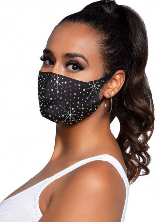 Plus de détails Masque lavable Naya strass