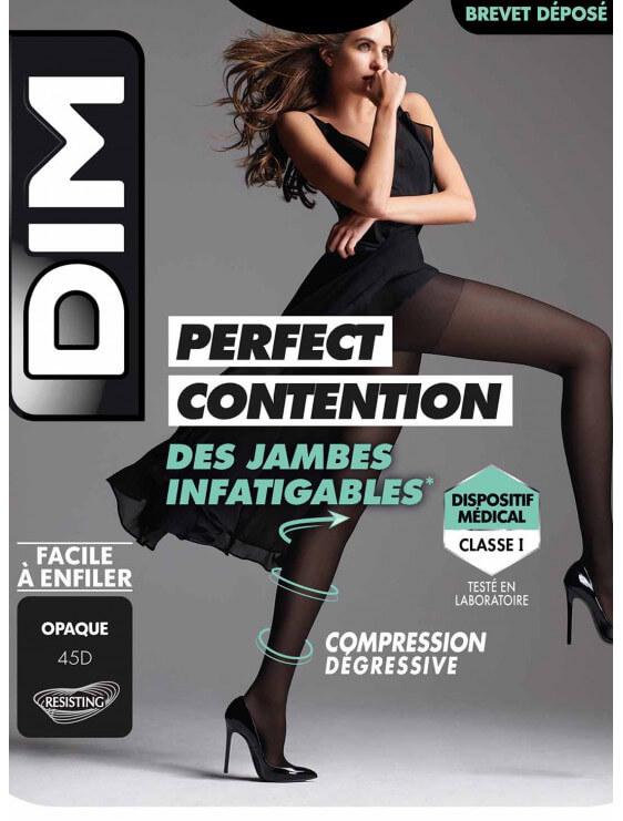 Collant Dim Effet Perfect contention 45D noir détail