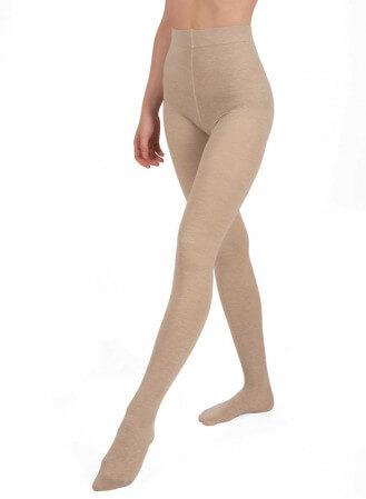 Collant chaud en coton nude face