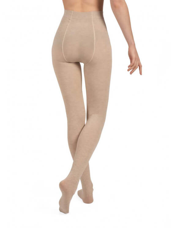Collant bec collection chaud en coton nude dos