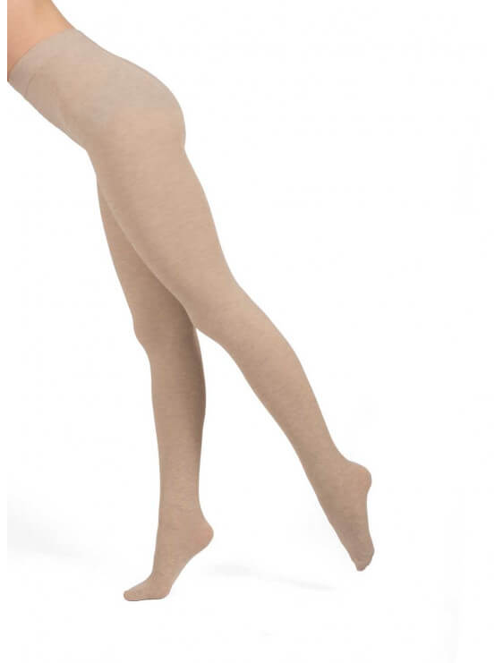 Collant bec collection chaud en coton nude coté