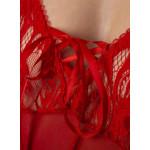 Body bec collection Alana rouge détail poitrine