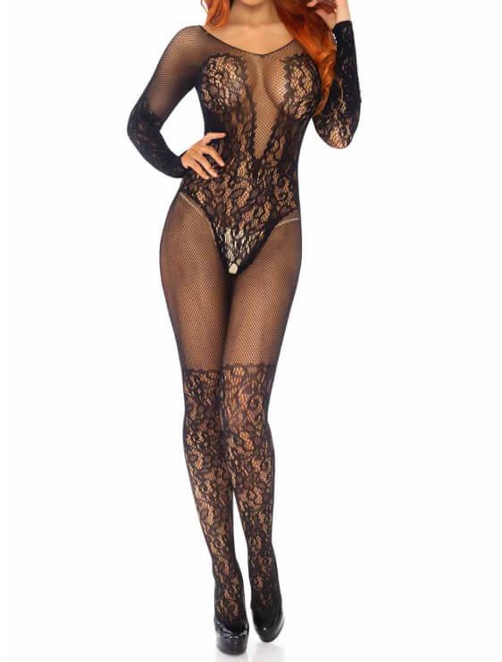 Combinaison sexy leg avenue Patrizia noir face