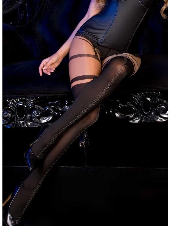 Collant ballerina model 498 noir et nude