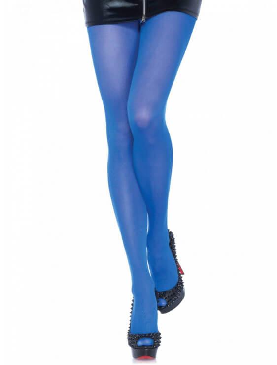 Collant leg avenue nylon COLORS bleu