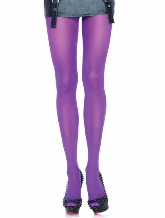 Collant leg avenue nylon COLORS violet