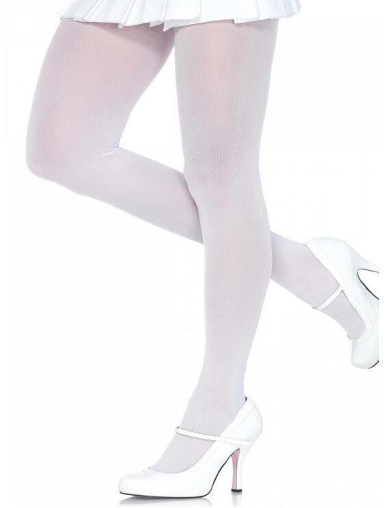 Collant leg avenue Opaque 70 deniers blanc Grande Taille