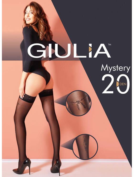 Bas autofixants giulia Mystery 20 deniers noir packaging