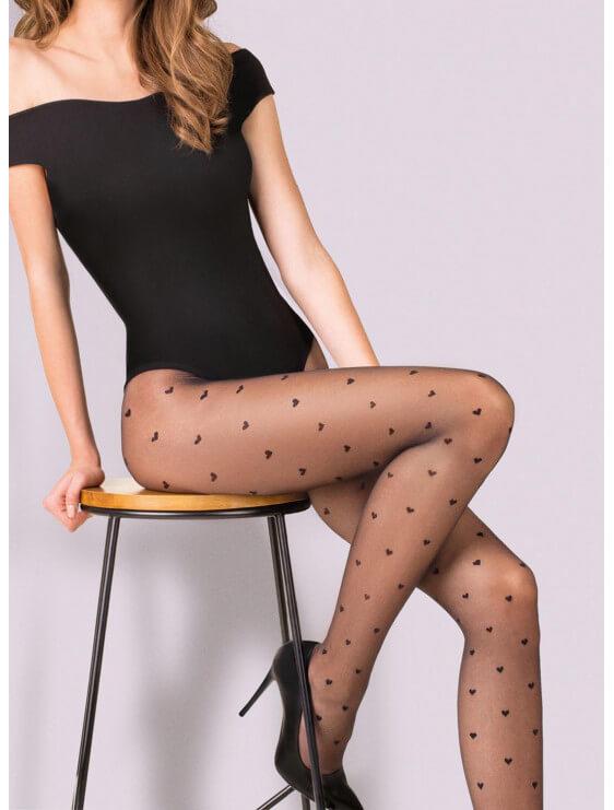 Collant gabriella EMILY noir assis