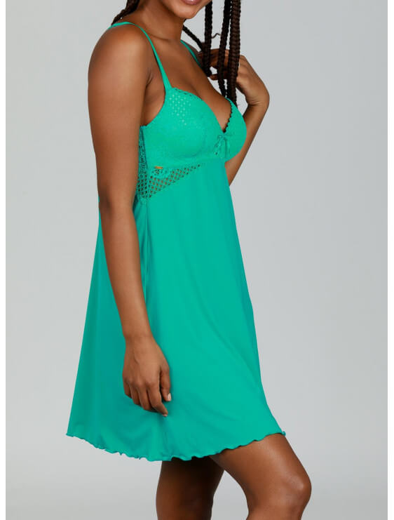 Nuisette LATINO valege couleur menthe face