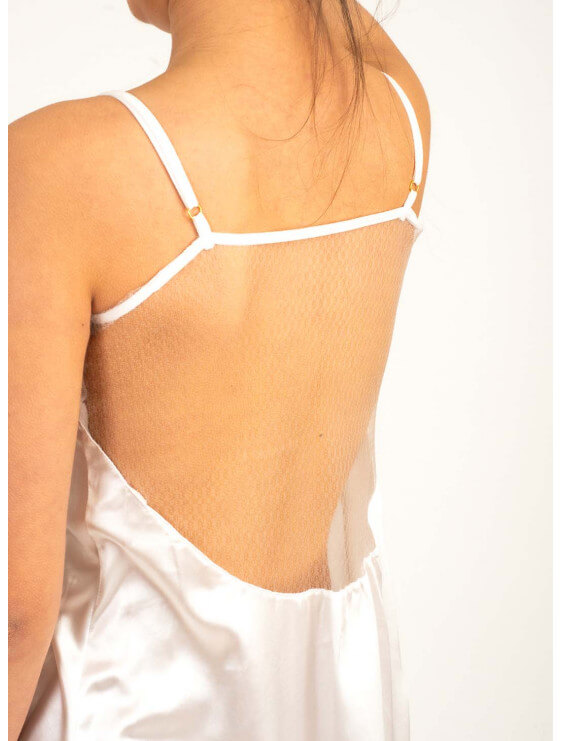 Nuisette Chitra bec collection blanc détail blanc dos