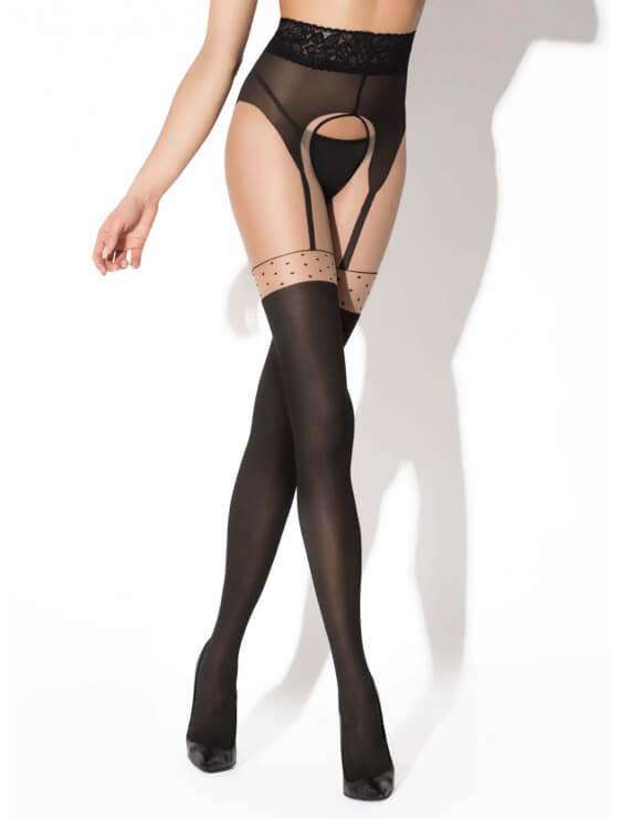 Collant ouvert Pin up 40D