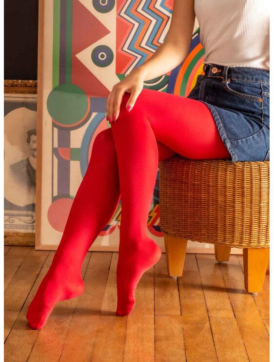 Collant PAULA 40D rouge