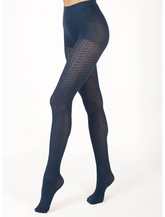 Collant coton Betty le bourget navy marine