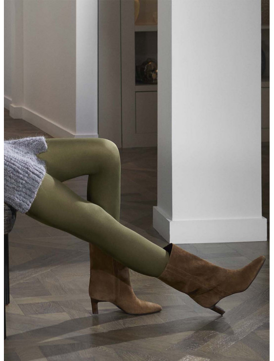Collant Le Bourget All Colors 50 deniers vert military
