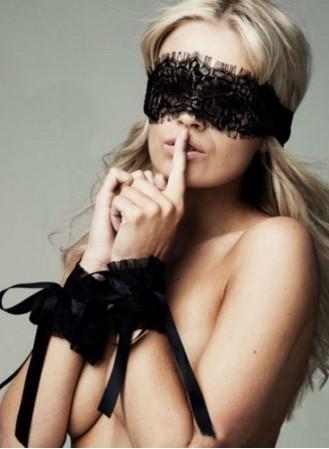 Lot Sensuel : masque + menottes