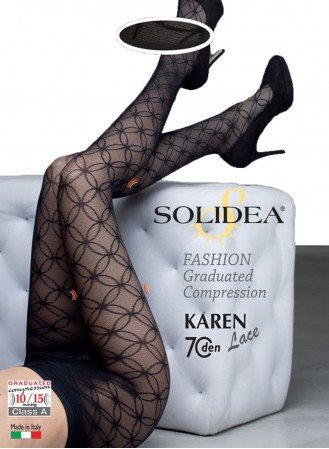 collant de contention solidea karen noir 70 deniers detail