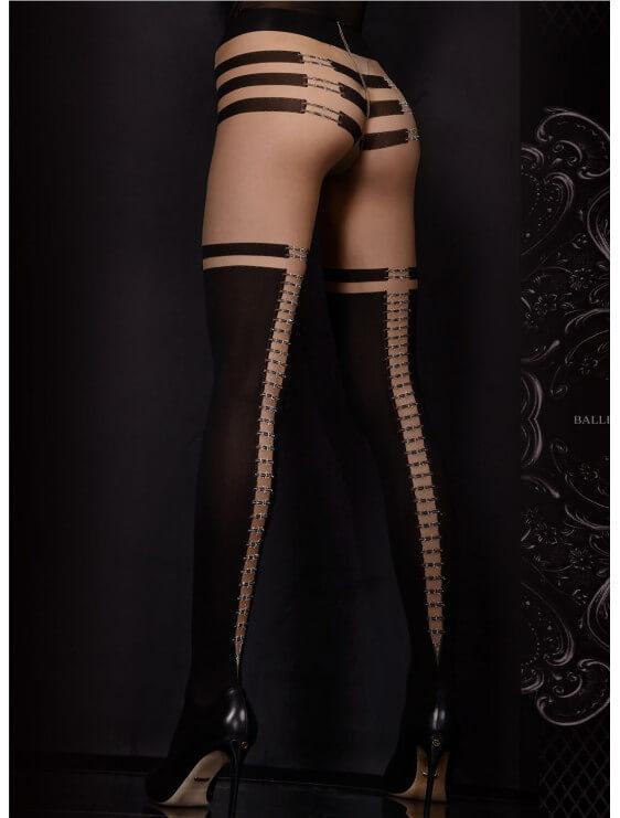 collant ballerina noir model 301 dos