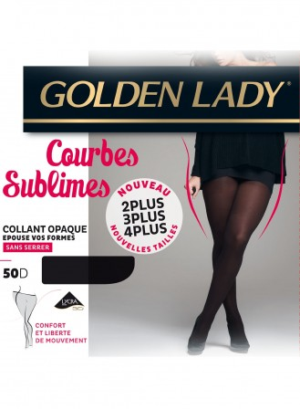 collant golden lady courbes sublim noir 50 deniers