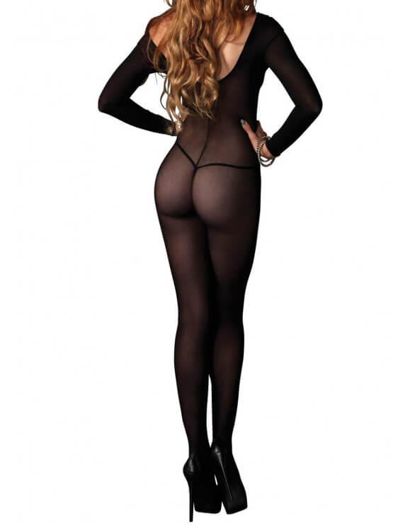 Body Collant noir manches longues