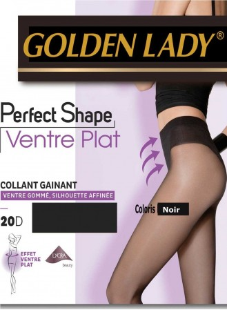 collant perfect shape golden lady ventre plat noir