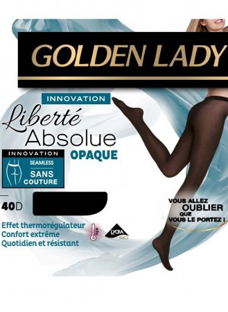 collant golden lady liberté absolue opaque noir