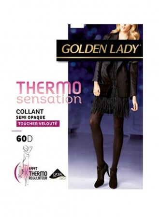 collant golden lady thermo sensation noir