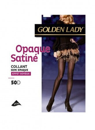 collant golden lady opaque satiné noir