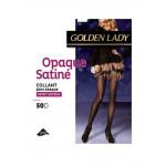 collant golden lady opaque satiné noir