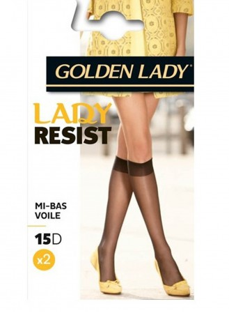 Lot de 2 mi bas Lady Resist 15D