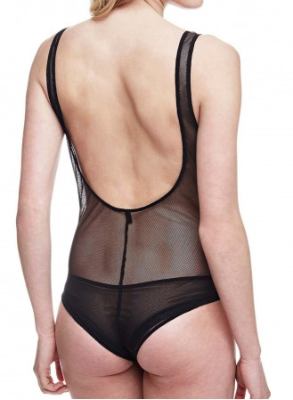 Body tulle brodé Guess