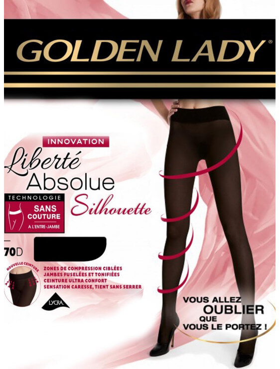 collant golden lady liberté absolue silhouette noir 70 deniers