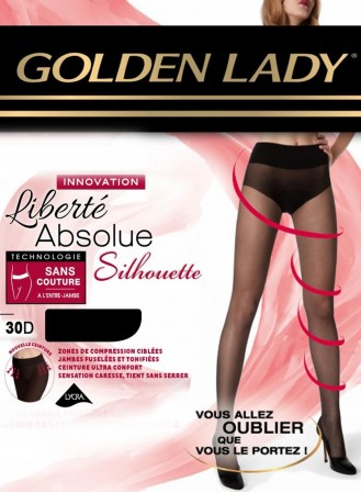 collant golden lady liberté absolue silhouette noir 30 deniers