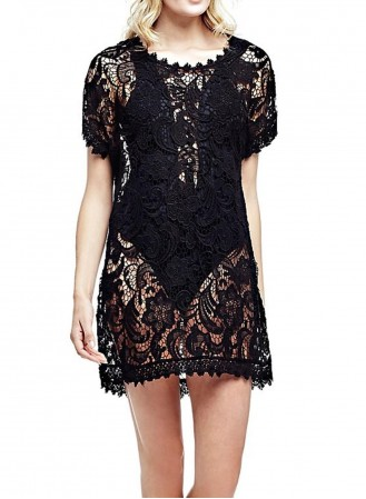 Plus de détails Mini robe crochet Guess