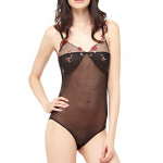 Body Guess Transparent Fleurs