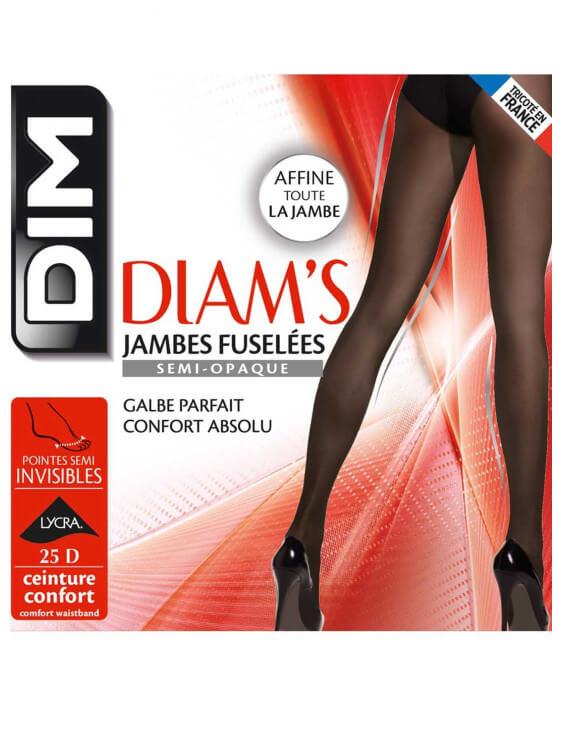 Collant Diam's Noir Jambes Fuselées 25 deniers